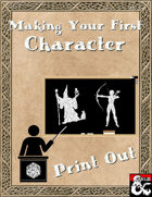 Making Your First Character - Print Out