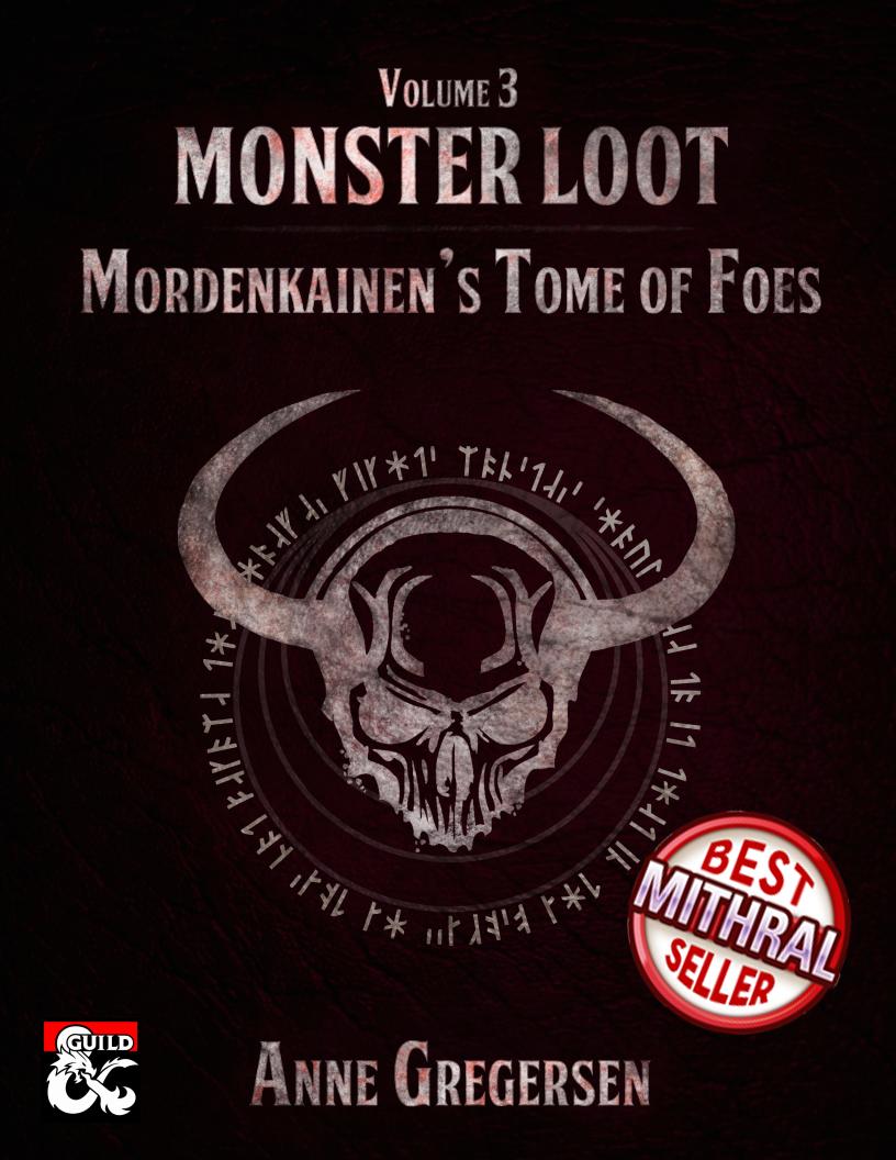 Monster Loot Vol  3 – Mordenkainen's Tome of Foes - Dungeon Masters Guild |  Dungeon Masters Guild