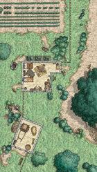 Waterdeep: Dragon Heist - Undercliff Village Cottage Map (Mike Schley Style)
