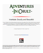 Adventures in Chult: Interlude - Deadly and Beautiful