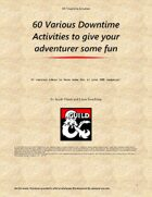 60 Downtime Activity Ideas