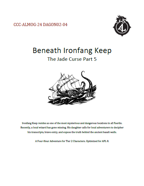 CCC-ALMOG-24 DAGON02-04 Beneath Ironfang Keep cover art