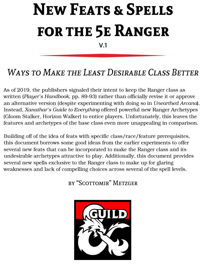 5e Class Feats