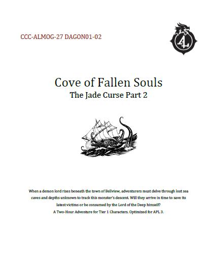 CCC-ALMOG-27 DAGON01-02 Cove of Fallen Souls cover art