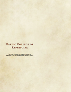 Bardic College of Repertoire