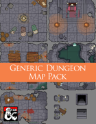 Generic Dungeon (Five 5x5 Tiles) Dungeon Squares
