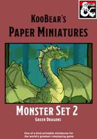 Green Dragon - KooBear's Paper Miniatures