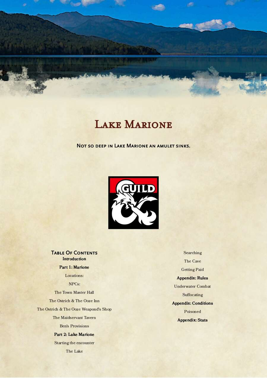 Cover of Lake Marione