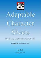 Adaptable Character Sheets
