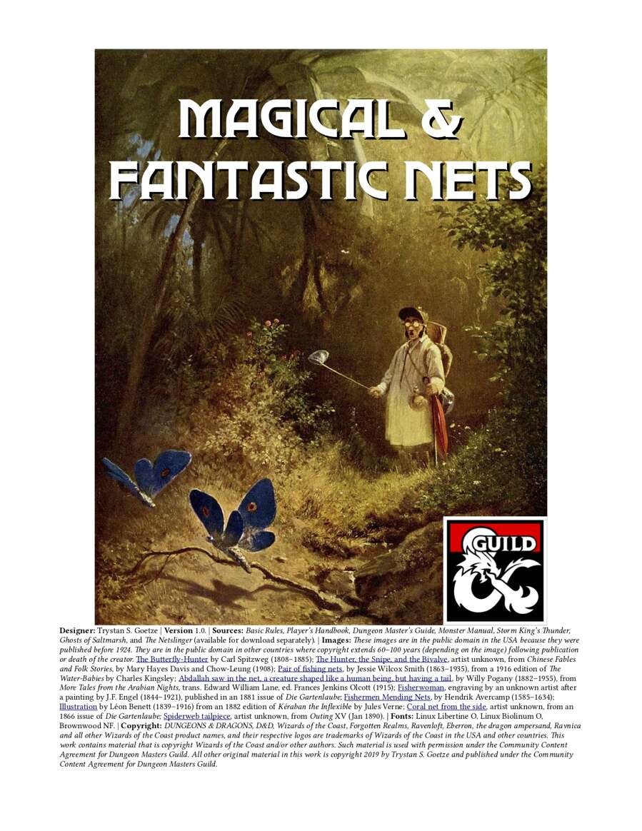 Magical and Fantastic Nets   Dungeon Masters Guild   Dungeon ...