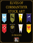 Elves of Cormanthyr Heraldry Stock Art