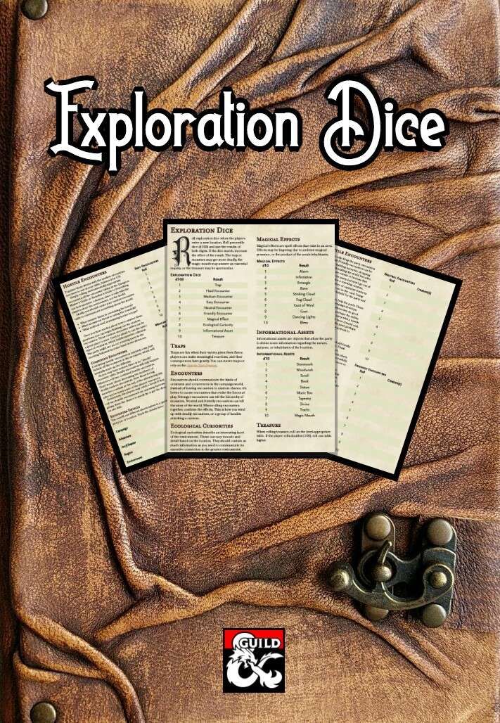 Exploration Dice - Dungeon Masters Guild | Dungeon Masters Guild