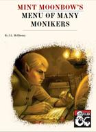 Mint Moonbow's Menu of Many Monikers