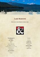 Lake Marione a d&d 5e Level 3 One-Shot Adventure