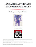 Andaer's Alternate Encumbrance Rules