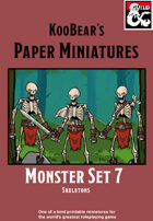 Monster Set 7 Skeletons - KooBear's Paper Miniatures