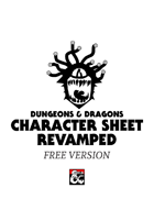 Character Sheet Revamped (Free Version)