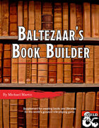 Baltezaar's Book Builder