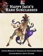 Happy Jack's Rare Subclasses - Jester & Clown