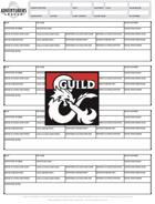 DDAL Season 9 Adventure Log Printable
