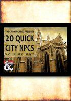 20 Quick City NPCs