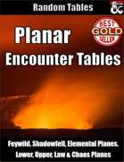 Planar Encounter Tables - Table Rolls