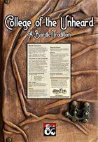 College of the Unheard (Bard)