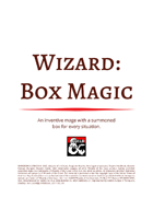 Wizard: Box Magic