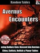 Avernus Encounters - Random Tables