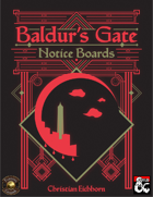 Baldur's Gate Notice Boards (Fantasy Grounds)