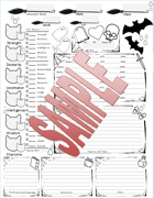 Character Sheet (Halloween Themed)