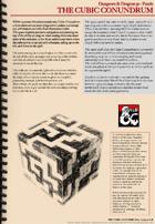 5e Puzzle - The Cubic Conundrum
