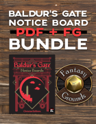 Baldur's Gate Notice Boards PDF + FG [BUNDLE]