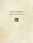 Barbarian Subclass-Path of the Artisan