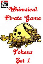 Whimsical Pirate Game Tokens
