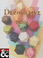 Decorative d20s