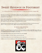 Sweet Revenge in Footsrest