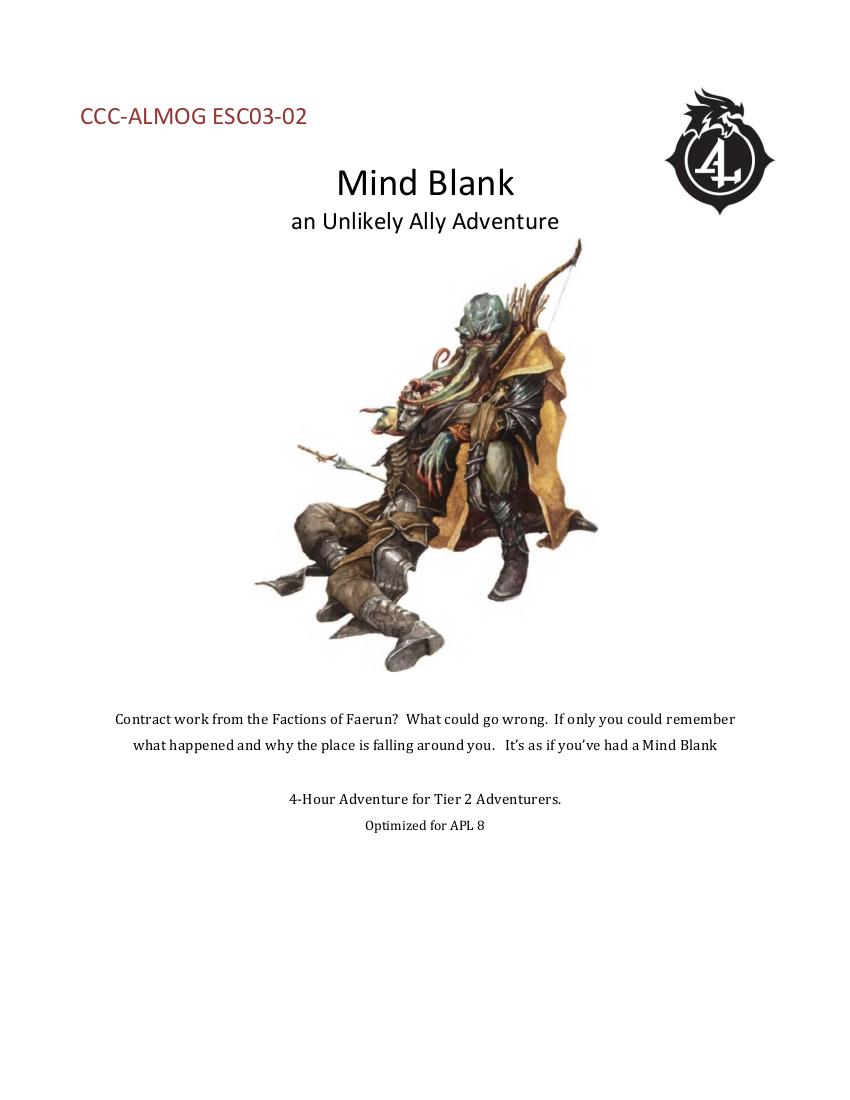 CCC-ALMOG ESC03-02 Mind Blank cover art
