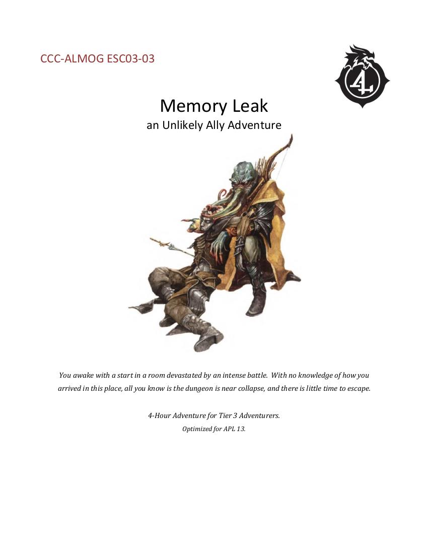 CCC-ALMOG ESC03-03 Memory Leak cover art