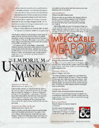 The Emporium of Uncanny Magic — Impeccable Weapons