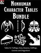 Nonhuman Characters Bundle - Random Tables [BUNDLE]