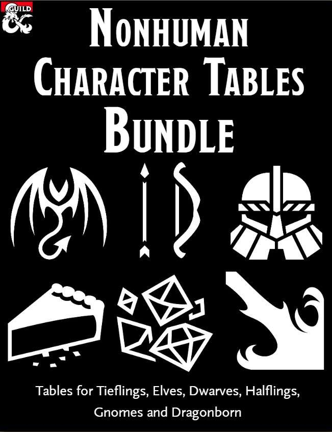 Nonhuman Character Tables Bundle
