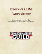 Beginner DM Party Sheet (A3)