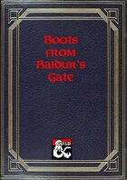 Sorcerous Sundries - Compendium of Magic Items from Baldur's Gate - Boots