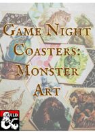 Game Night Coasters: Monster Art