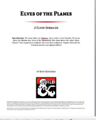 Elves of the Planes: 2 Elven Subraces