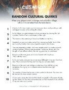 10 Cultural Quirks