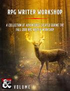 RPG Writer Workshop Fall 2019 Vol. I [BUNDLE]