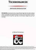 Technomancer - Artificer's Specialization