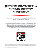 Jingshen and Yaoguai: A Shenmo Ancestry Supplement